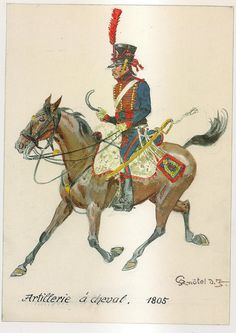 French; Horse Artillery, Gunner, 1805 by H.Knotel
