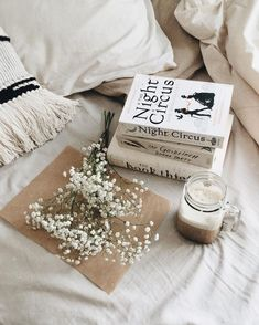 The Night Circus, Erin Morgenstern / The Goldfinch, Donna Tartt / The Book Thief, Markus Zusak Flat Lay Photography, Book Photography, Breakfast Photography, Floral Photography, Book Aesthetic, White Aesthetic, Athena Aesthetic, Spring Aesthetic, Book Flatlay