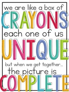 back to school quotes The Crayon Box That Talked [Back to School] Book Companion Classroom Quotes, Classroom Posters, Classroom Themes, Education Posters, Art Education, Crayon Themed Classroom, Texas Education, Education Center, Classroom Door