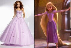 OMG: 11 Dresses Your Favorite Disney Princesses Would Wear to Prom in Real Life