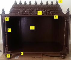 ChroniclesOfAnEternalMind: Homemade Pooja Mandir Wooden Temple For Home, Temple Design For Home, Home Temple, Mandir Decoration, Mandir Design, Pooja Mandir, Pooja Room Door Design, Creative Wall Decor, Ethnic Home Decor