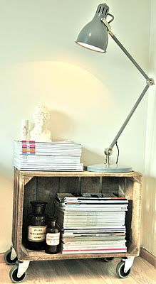 night stand diy for bedroom stack a few more crates on top??
