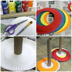 14 games and crafts with cardboard plates to keep the kids entertained! – Children's DIY – Tips and Crafts Kids Crafts, Diy And Crafts, Diy Games, Party Games, Games For Kids, Diy For Kids, Cardboard Crafts, Preschool Activities, Kids And Parenting