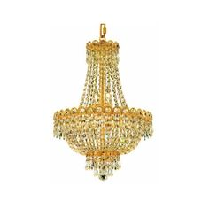Elegant Lighting 1900D16G Century 8-Light, Two-Tier Crystal ($332) ❤ liked on Polyvore featuring home, lighting, ceiling lights, chandeliers, indoor lighting, royal cut clear crystal, crystal chandelier light, chain lighting, hanging chain lights and crystal ceiling lamp