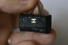 Quilted leather miniature handbag https://www.facebook.com/MinisByTwinmum