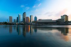 Tampa, Florida, Skyline and Convention Center. Convention Centre, New York Skyline, Tampa Florida, Pictures, Travel, Photos, Viajes, Photo Illustration, Trips