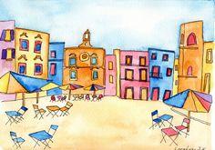 Piazza dell'orologio a Polignano a mare.