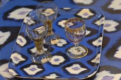 Electric Ikat trays