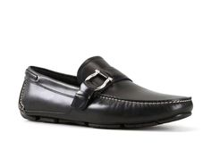 Ferragamo buckle driving loafers in black Calf leather - Italian Boutique €322