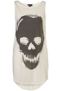 Skull Print Tunic - Belief - Collections - Topshop