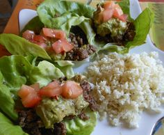 Lettuce Tacos and Jalapeno Cheese Rice...Sue 2013