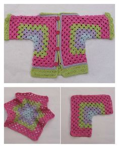 Hexagonal Baby Cardigan Sweater Free Crochet Pattern - Crochet Clothing and Accessories Cardigan Au Crochet, Cardigan Bebe, Crochet Baby Sweaters, Crochet Baby Clothes, Crochet Jacket, Baby Knitting, Cardigan Sweaters, Crochet Toddler Sweater, Cardigan Pattern