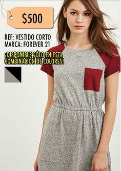 Vestido corto-Forever21 Talla L