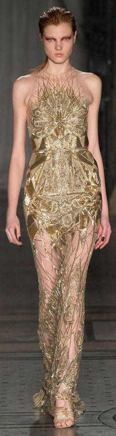 Julien Macdonald gold gown