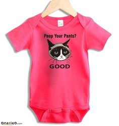 lol I should so get this for Jock's cousin. Well his baby girl. Grumpy Baby, Baby 2014, Heat Press Vinyl, One Piece Bodysuit, Poor Children, One Piece Suit, Printed Shorts, Snug Fit, Baby Shower Gifts