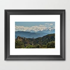 """Les Orgues dille-sur-têt 2 Framed Art Print by Rainer Steinke - $40.00 """"Les Orgues"""" near """"Ille sur tet"""" in the """"Pyrenees"""" (France), in the background you can see the peaks of the """"Hautes Pyrenees"""" Mountains."""