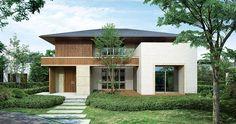 印象深い趣ある家|一戸建て木造注文住宅の住友林業(ハウスメーカー) Japan House Design, Modern House Design, Cafe Japan, Townhouse Exterior, Small House Exteriors, Modern Asian, Minimal Home, Japanese House, Luxury Decor