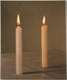 Zwei Kerzen. Gerhard Richter.