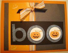 halloween card - b o o