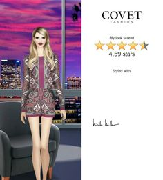 Late Night Talk Show look created for guest host of Covet Fashion Emma Roberts.