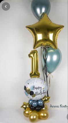 Happy Birthday Decor, Birthday Balloon Decorations, 1st Boy Birthday, Birthday Balloons, Balloon Flowers, Balloon Bouquet, Balloon Arch, Balloon Display, Balloon Gift