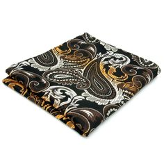 >> Click to Buy << Handkerchief Hanky Paisley Floral Black Brown Yellow Pocket Square Mens Jacquard Woven Handkerchieves Brand New #Affiliate