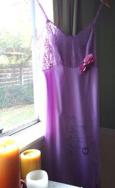 Vintage Lavender Slip Dress by peppermintpink on Etsy, $48.00