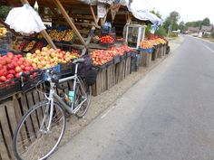 Bucharest, Romania Fruit Market [photo by Rick Price] Bucharest Romania, Biking, Bicycles, Around The Worlds, Shops, Tours, Fruit, Places, Travel
