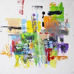 Spatula Impression Sylwia Synak Painting Acrylic on Canvas