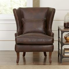 Found it at Joss & Main - Karina Leather Arm Chair by Birch Lane