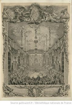 Engraving of a ball held to celebrate the marriage of Marie Antoinette to Louis, dauphin of France.