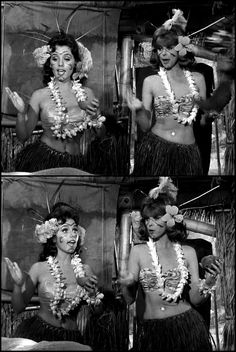 Dawn Wells as Mary-Anne and Tina Louise as Ginger in Gilligan's Island