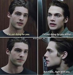 Thiam - so mad that Teen Wolf baited us with them. Teen Wolf 6b, Teen Wolf Funny, Teen Wolf Stiles, Teen Wolf Cast, Scott Mccall, Mtv, Teen Wolf Actors, Dylan Sprayberry, Teen Tv