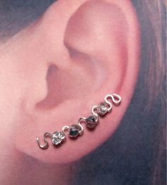 Silver Ear Pins with Silver Mirror Finish by TheGratitudeStudio, $15.00