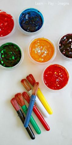 Homemade Paint {Confetti Paint} ~ Learn Play Imagine