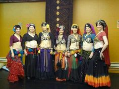 """At Fat Chance Belly Dance studio after an """"old school"""" costuming workshop"""
