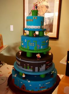 Gamer wedding cake