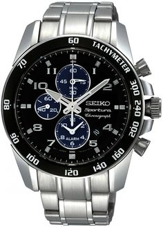 Seiko Quartz Chronograph Watch #SNAE63P1 (Men Watch)