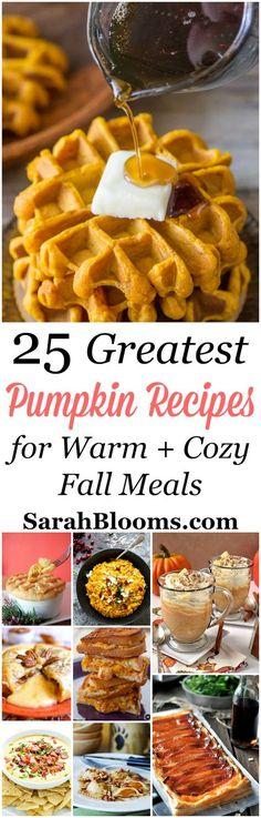 25 Scrumptious Pumpkin Recipes to keep you warm this fall.