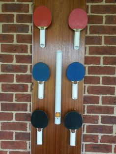 Table Tennis Organizer...PVC pipe   Good idea for a game room!