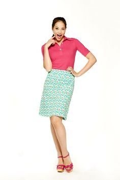 Tante Betsy Skirt Birdie Blue Shirt Liza Pink