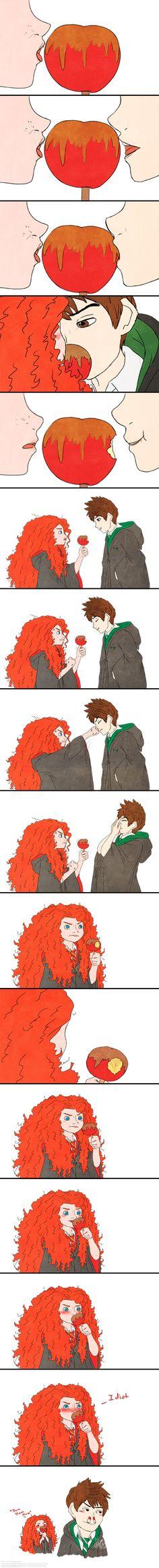 Jarida:Hogwarts AU Apples by Kiome-Yasha on DeviantArt