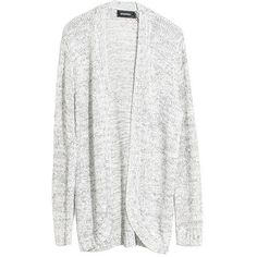 MinkPink A Winter's Tale Cardi ($44) ❤ liked on Polyvore featuring tops, cardigans, jackets, sweaters, outerwear, slouchy tops, long tops, minkpink, long oversized cardigan and long cardigan