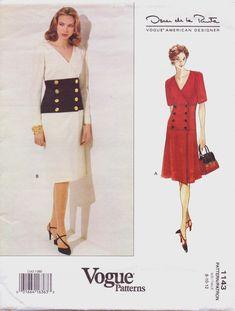 90s Vogue American Designer Pattern 1143 Oscar de by CloesCloset, $13.00