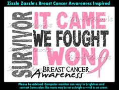 Breast Cancer Awareness t Shirt Iron On Transfer by ZizzleZazzle1, $4.25