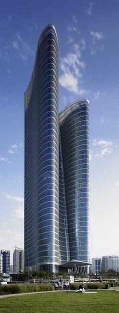 Abu Dhabi Investment Authority (ADIA) Tower, Abu Dhabi, UAE designed by Kohn Pedersen Fox Associates (KPF) Architects  :: 40 floors, height 185m