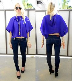 Runway Sewing: PROJECT #20 PLEATED NECK SILK TOP 1 OF 3