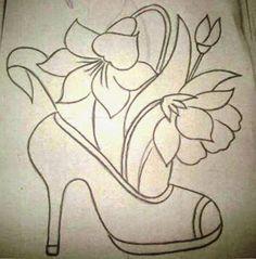 Pintura em tecido ,Pintura em tela, Riscos e desenhos para pintar e artesanatos