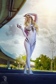 Anti-Gwenom Costume Print Gwen Stacy Venom Gwen Costume White Anti Gwenom Girl Cosplay Symbiote Spiderman Suit, No Lenses Anime Cosplay Mädchen, Epic Cosplay, Cute Cosplay, Cosplay Outfits, Outfits Teenager Mädchen, Teen Girl Outfits, Spider Girl, Gwen Stacy, Cute Costumes