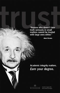 What do you think of when you hear the term academic honesty?